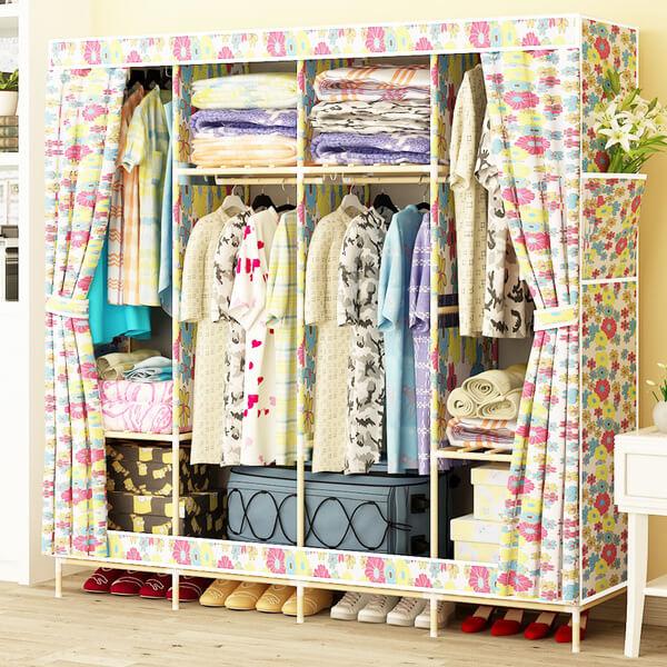 Tủ vải khung gỗ cao cấp
