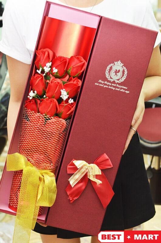 Hoa hồng sáp thơm 11 bông