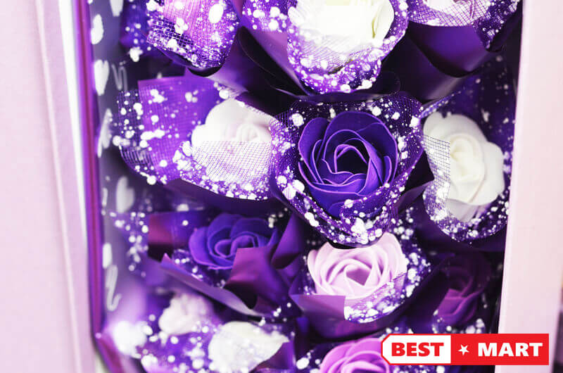 Hoa hồng sáp thơm 21 bông đặc biệt
