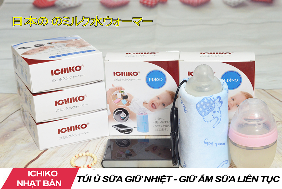 Túi Giữ Nhiệt Ủ Bình Sữa ICHIKO Nhật Bản