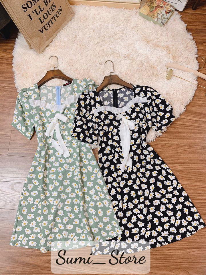 Váy hoa cúc bèo ngực