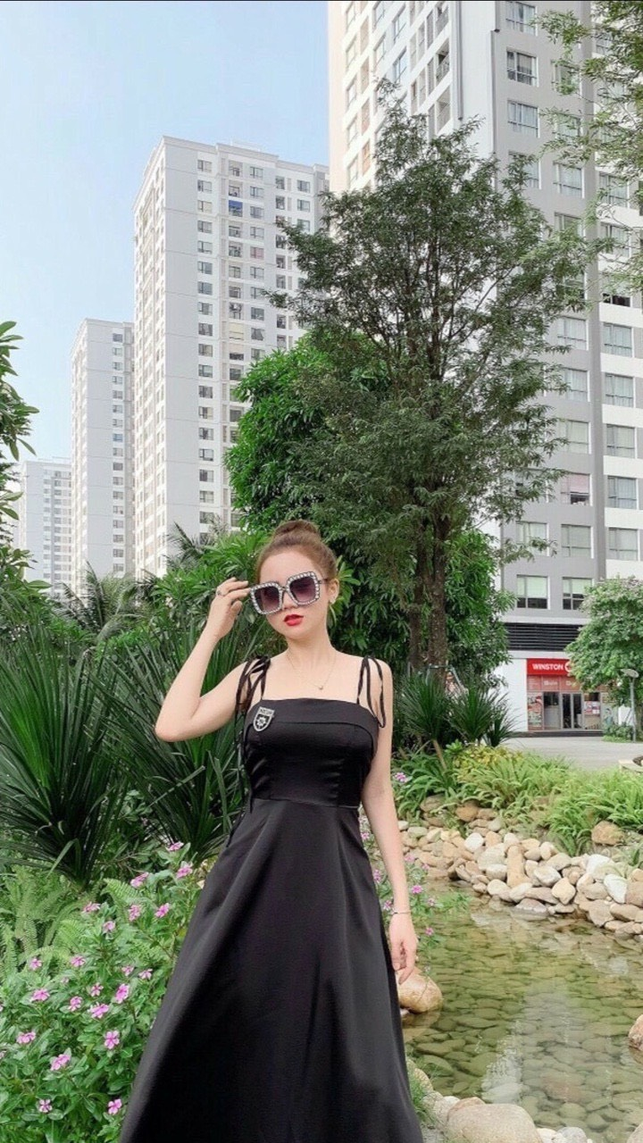 Váy Maxi Đi Biển Có Đệm Ngực Chất Lụa Siêu Đẹp
