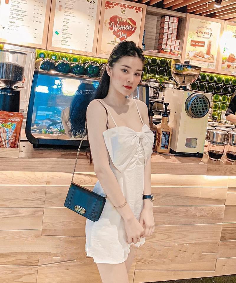 Váy 2 Dây Nơ Ngực Có Đệm Xinh Giá Rẻ