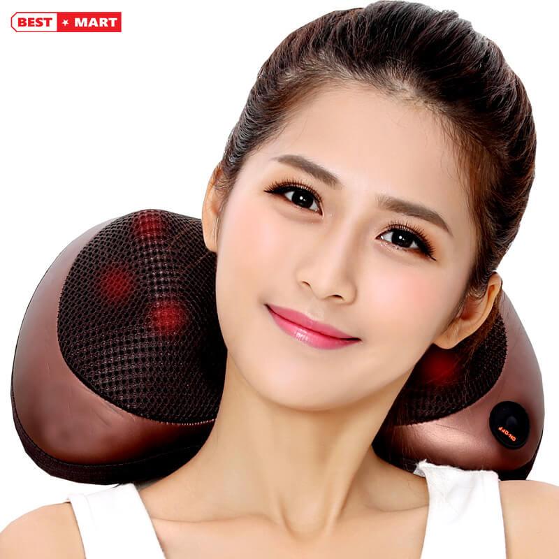 Gối massage hồng ngoại MAGIC 4 bi - M104