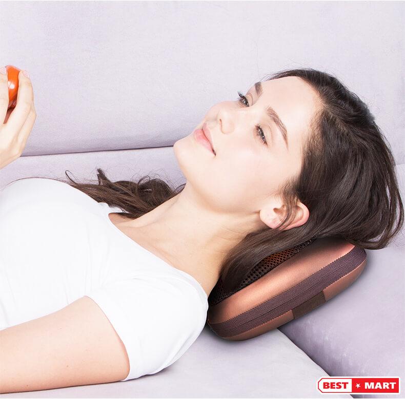 Gối massage hồng ngoại MAGIC 6 bi - M106