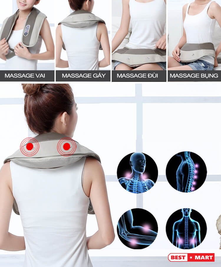 Đai massage vai cổ gáy Neck Kormer K04