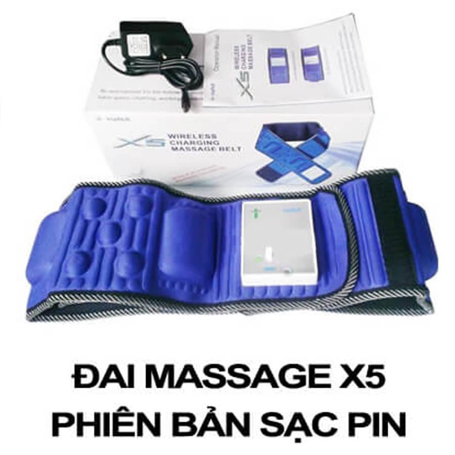 Đai Massage X5 Sạc Điện Hàn Quốc