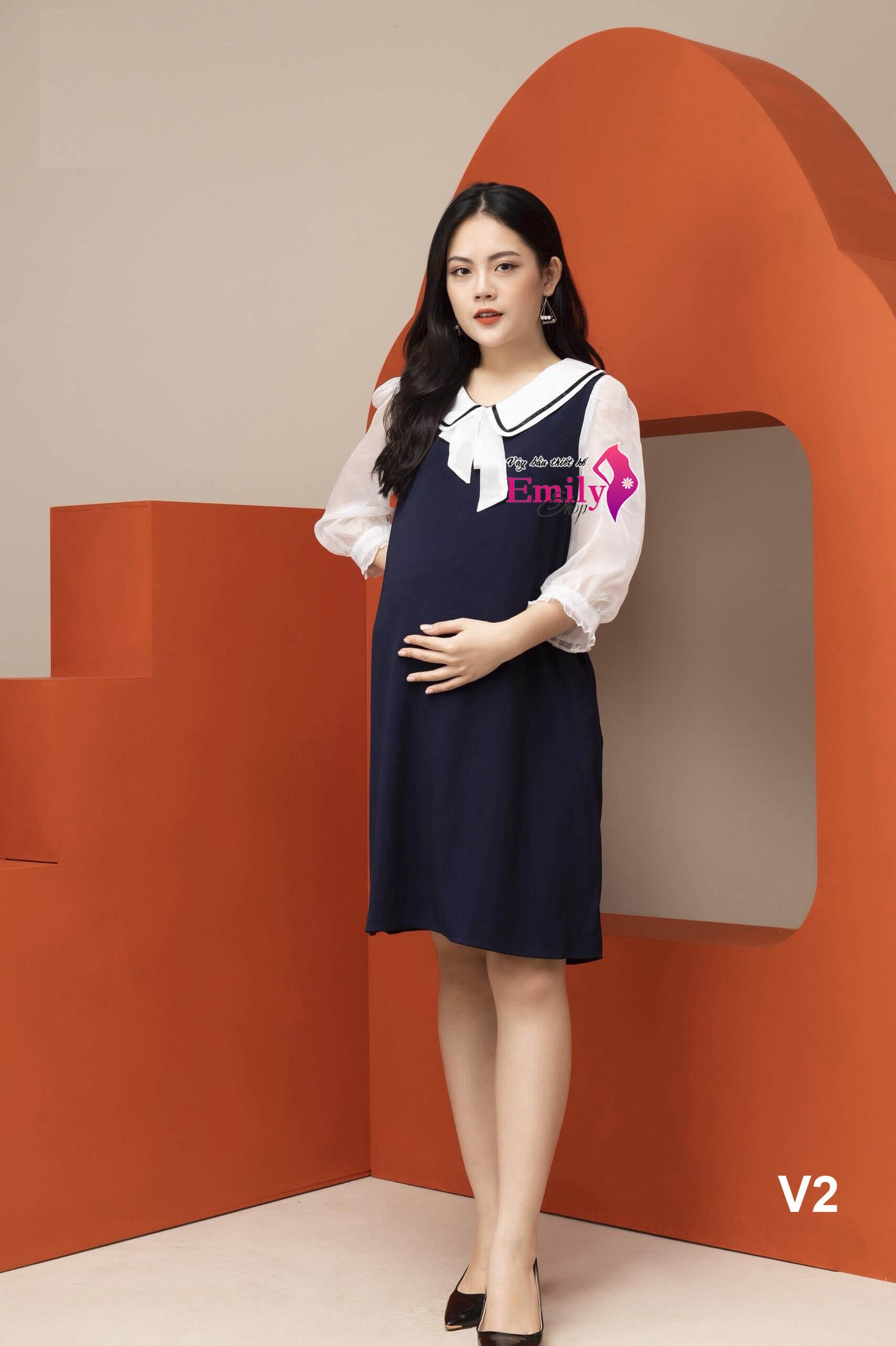 Váy Bầu Công Sở Thiết Kế Emily
